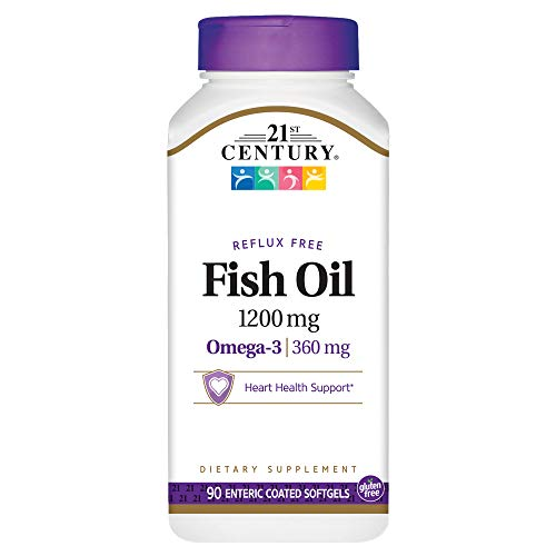21st Century Fish Oil 1200 mg Enteric Coated Softgels, 90 (Enteric Coated Drugs)