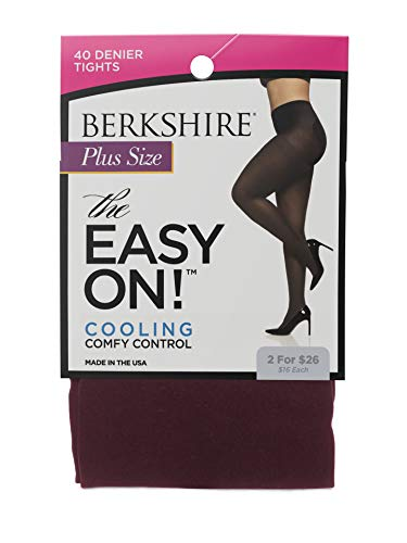 Berkshire Spandex Tights - Berkshire Women's Plus Size the Easy on Maximum Coverage Tight, Garnet Red, 5X-6X