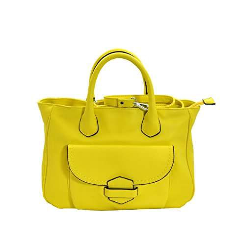 MoDA Classic Downtown Doctors Style Tote Satchel Handbag with Attachable Shoulder Strap ()