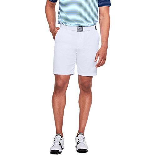 Under Armour Men's Showdown Golf Shorts, White (100)/White, 40