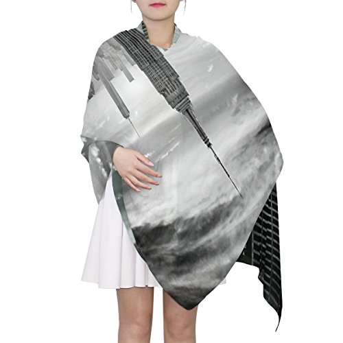 Women's Scarf Silk Scarf Blanket Lightweight Scarves Fashion Neck Scarf Poncho with New York City Shawl Wrap 70