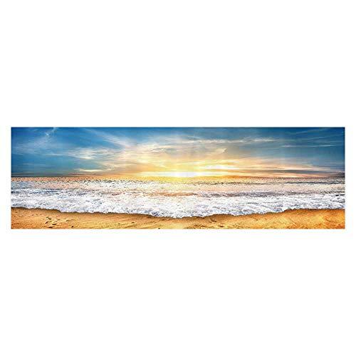 UHOO2018 Aquarium Background Sunwith Zippy Waves Moving to Sand Wallpaper Sticker Background Decoration ()