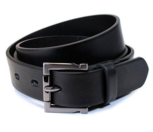 (TM1-129) Mens Belt 100% Real Leather Black, Brown, White Size 28~36