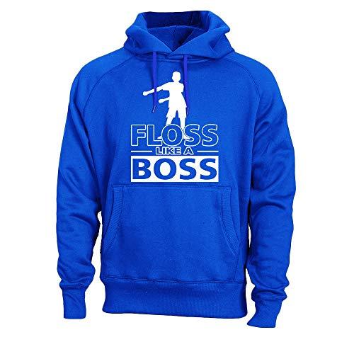 (Kids Floss Like a Boss Flossin Dance Youth Adult Hoodie Sweatshirt (Royal, Youth XL))