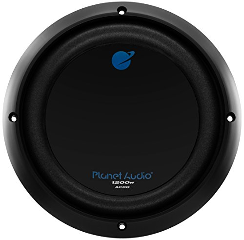 Planet Audio AC8D 1200 Watt, 8 Inch, Dual 4 Ohm Voice Coil Car Subwoofer -