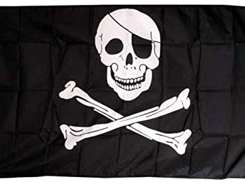 Pirate Bandana Large Flag 8ft x 5ft