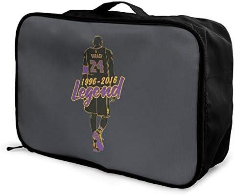 アレンジケース バスケットボール 選手 コービー 背番号 24 旅行用トロリーバッグ 旅行用サブバッグ 軽量 ポータブル荷物バッグ 衣類収納ケース キャリーオンバッグ 旅行圧縮バッグ キャリーケース 固定 出張パッキング 大容量 トラベルバッグ ボストンバッグ