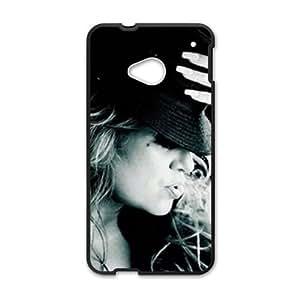 Artistic Fashion Unique Black htc m7 case