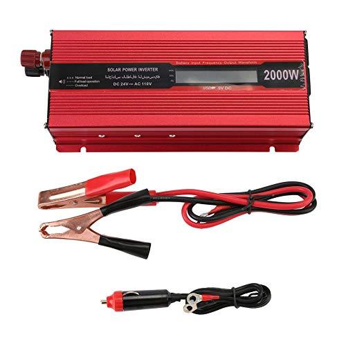 (Car Inverter, 2000W 12V Or 24V To 110v LCD Screen Display Sine Wave Car Inverter Voltage Transformer Charger Converter Power Inverter)