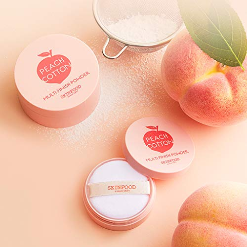 SKINFOOD Peach Cotton Multi Finish Powder, 15 Gram by SKIN FOOD since 1957 (Image #1)