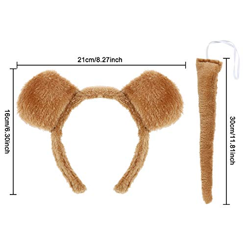 WILLBOND 6 Pieces Bear Ears Headband Bear Bowtie and Bear Tail Costume Set for Halloween or Costume  - http://coolthings.us