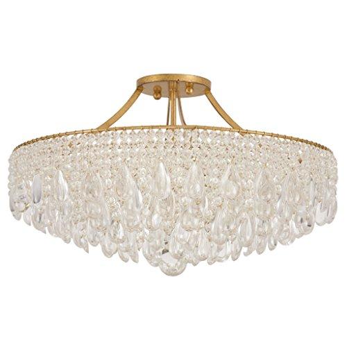 VK4022: Venetian Mademoiselle Clear Crystal Glass Ceiling Fixture (14