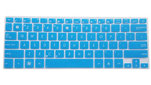 CaseBuy Semi-Blue Backlit Ultra Thin Soft Silicone Gel Keyboard Protector Skin Cover for 11.6-Inch ASUS VivoBook UX21E UX21E-DH71 UX21E-DH52 UX21E-XH7 Q200E Q200E-BCL0803E S200E X200CA X200MA K200MA X202E X202E-DH31T X205T X205TA F202E F202E-CT148H F200MA F200LA Transformer Book Trio TX201LA T200TA TAICHI 21 US Version
