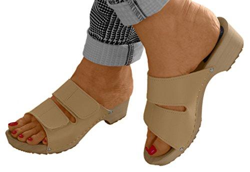 pour Line Beige Mules Comfort Femme qO7px