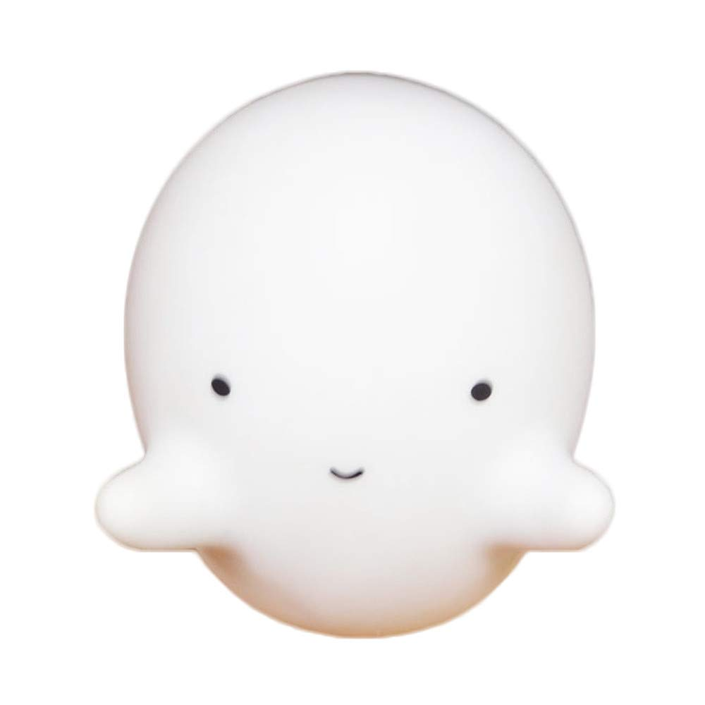 Boomnow Decorative Party LED Bedroom Cartoon Halloween White Ghost Table Night Light