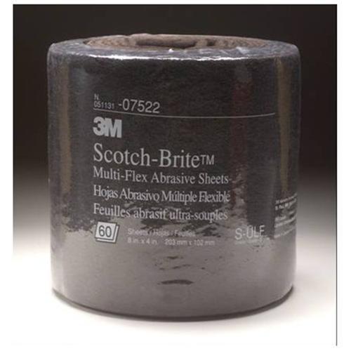 3M Scotch-Brite Multi-Flex Abrasive Sheet Roll 07522 Ultra Fine, 8