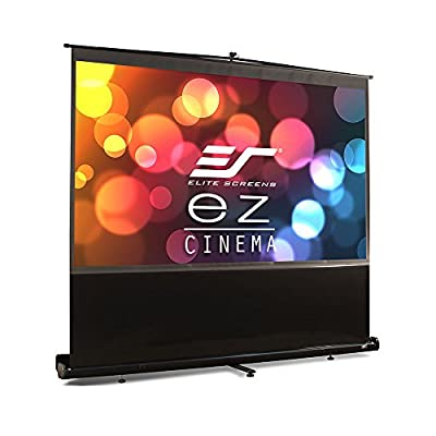 Elite Screens ezCinema Series, 60-inch 4:3, Portable Floor Pull Up Projection Screen, Model: F60NWV
