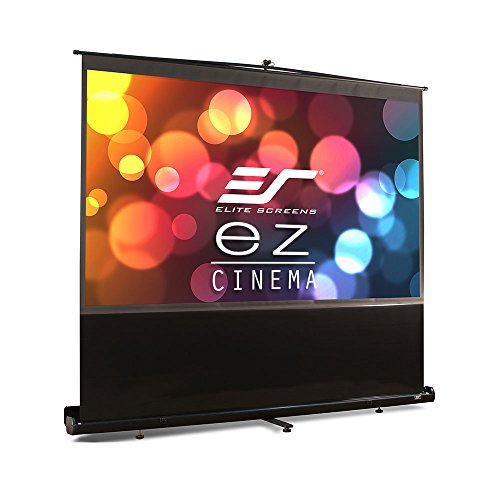 Elite Screens ezCinema Series, 100-inch 16:9, Portable Floor Pull Up Projection Screen, Model: F100NWH by Elite Screens