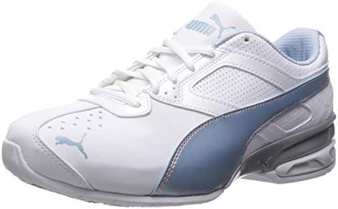 PUMA Women's Tazon 6 Wide FM Sneaker, White Cerulean Silver