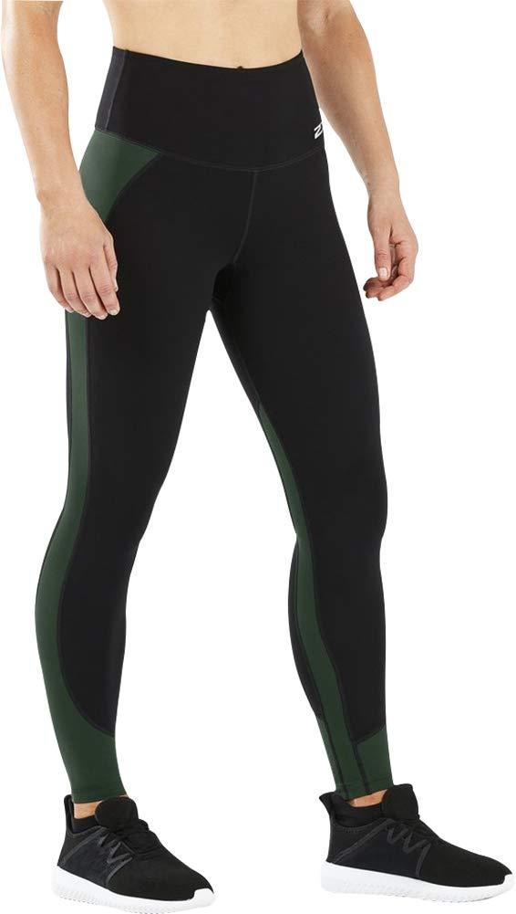 2XU Women's Fitness Hi-Rise Comp Tights, Black/Mountain View, XS-R by 2XU