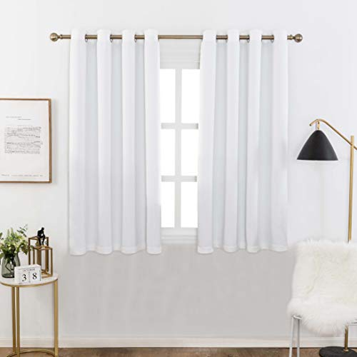 Home Brilliant Blackout Curtains with Black Backing,