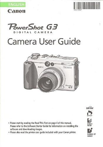 canon powershot g3 digital camera user guide instruction manual rh amazon com canon powershot g3 user manual Canon PowerShot G2 Battery