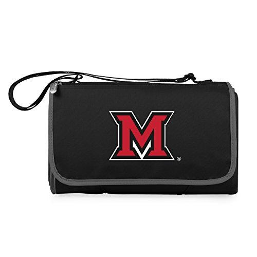 NCAA Miami Ohio Redhawks Outdoor Picnic Blanket Tote, Black