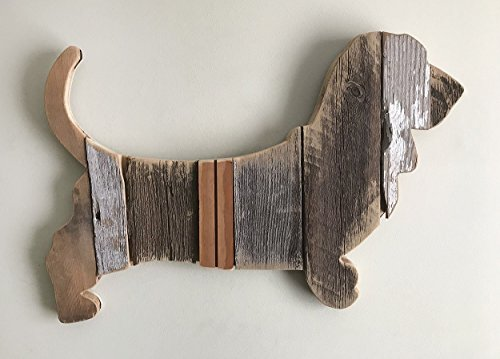Basset Hound silhouette made with reclaimed wood (sold-order yours now)