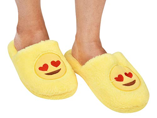 CASON-Indoor Slippers Warm Slippers Winter Bedroom Home Smiley Slippers for Women,Girls or Emoji Slippers Minion Slippers Gifts