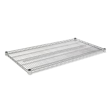 Alera - Industrial Wire Shelving Extra Wire Shelves - 48w x 24d - Silver - 2 Shelves-Carton SW58-4824SR (DMi CT