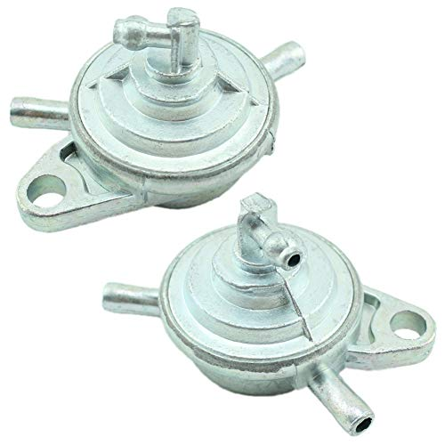 Yingshop 2pc Fuel Pump Gas Valve Carburetor Petcock Shut Off Switch Carb fit GY6 50cc 60cc 80cc 90cc 110cc 125cc 150cc 200cc 250cc Engine ATV Scooter Go Kart Moped Chinese Quad 2 P
