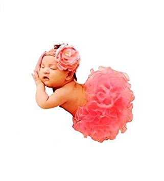 Baby Photography Props Girl Photo Shoot Outfits Tutu Skirt Headband Outfits Girls' Clothing (0-24 Months)