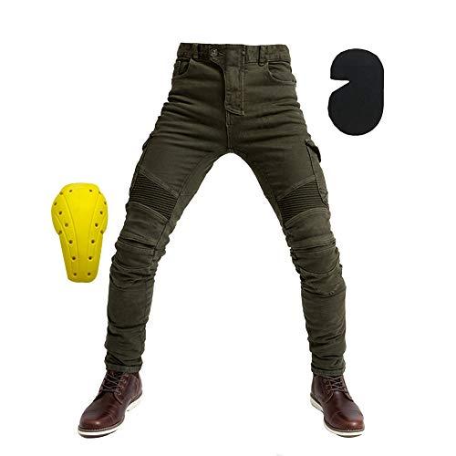 Herren Motorradhose mit Protektoren und Reflektoren – Textil Motorrad Hose für Sommer und Winter – Wasserdicht Winddicht…