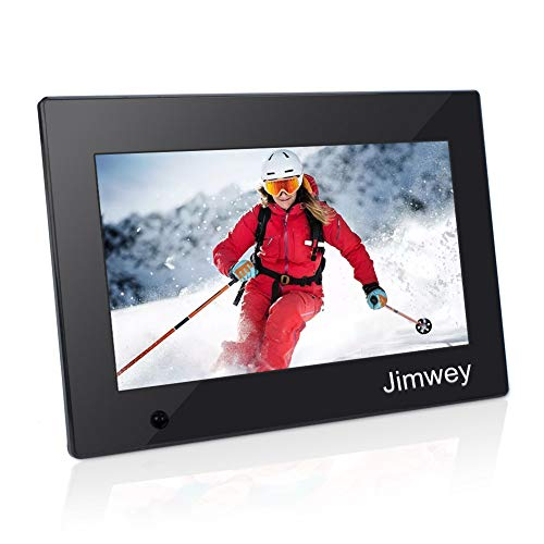 Digital Photo Frame 10 inch Electronic Picture Frame with Motion Sensor 1080P HD LCD Display, Video Player/ MP3/ Calendar/Zoom in & Rotate Pictures/Remote Control [Jimwey]