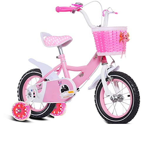 Axdwfd 子ども用自転車 キッズバイク子供用自転車12/14/16/18/20インチ男の子と女の子用サイクリング、子供用、2-11歳ピンクパープル 20in Pink B07PPB2YMD