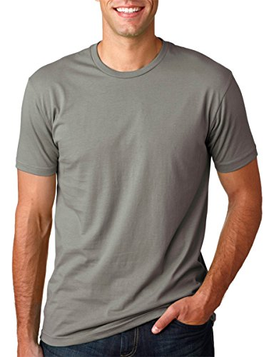 Fashion Ringspun T-shirt - Next Level Mens Premium Fitted Short-Sleeve Crew T-Shirt - X-Large - Warm Grey