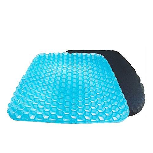 (BVGreen Gel Seat Pad Cushion for Cars Outdoors Home Stadium Truck Office (Light Blue))