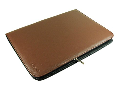 Large Capacity Fountain Pen Case PU Leather Coffee Color 48 Slots pen pouch (Display Pen Case)