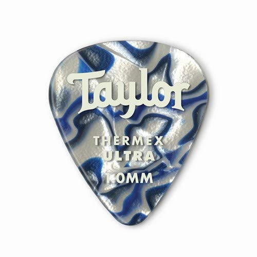 Taylor Premium Darktone 351 Thermex Ultra Guitar Picks 6-pack - Blue Swirl 1.00mm
