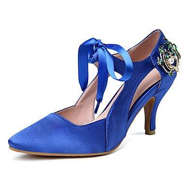 Wome's sandalias Verano Oto?o Club sat¨¦n zapatos Oficina &Amp; Carrera parte &Amp; traje de noche Stiletto tal¨®n Rhinestone US8 / EU39 / UK6 / CN39