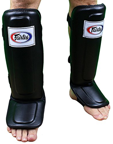 Fairtex SP3 Pro Style Shin Guards - Black, Blue, Red