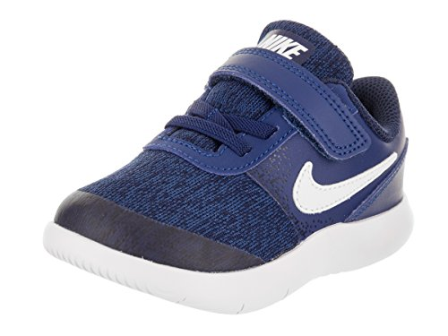 Shoes Gym Boys (NIKE Toddlers Flex Contact (TDV) Gym Blue/White Binary Blue Running Shoe 8 Infants US)