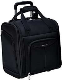 Underseat Carry-On Rolling Travel Luggage Bag, Black