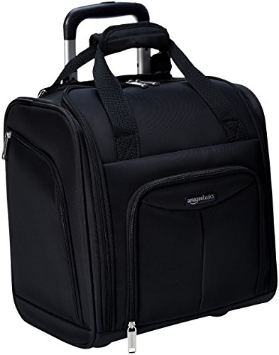 AmazonBasics Underseat Carry-On Rolling Travel Luggage Bag, Black