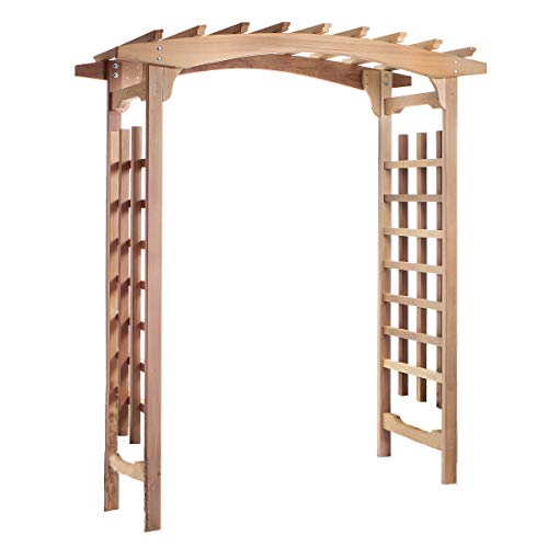 All Things Cedar PA96 Garden Pagoda Arbor (Wood Kits Arbor)