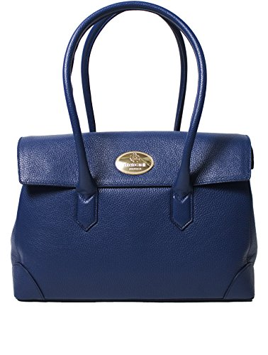 Roberto Cavalli Women's Leather Shoulder Bag Handbag Electric Blue
