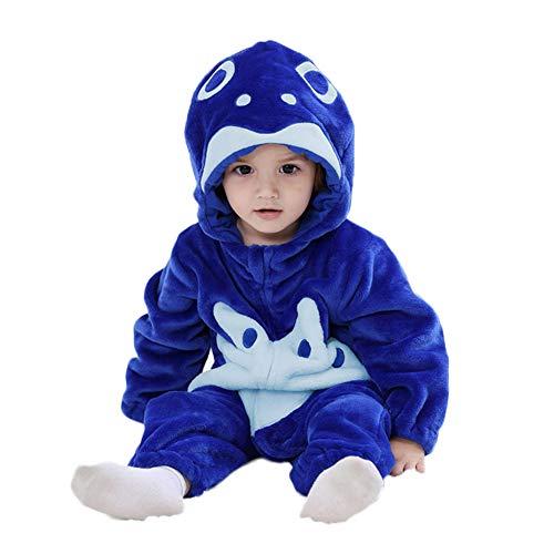 (M&A Unisex Baby Romper Winter Flannel Animal Onesie Pajamas Jumpsuit Cosplay)