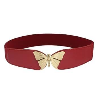 SODIAL(R) Cinturon Hebilla de Enclavamiento Metal Forma de Mariposa
