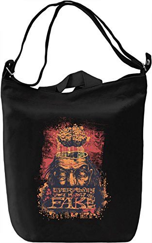 Everything you know is fake Borsa Giornaliera Canvas Canvas Day Bag| 100% Premium Cotton Canvas| DTG Printing|