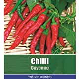 De Ree Chilli Cayenne Pepper Vegetable / Fruit Plant 95 Seeds Hot!